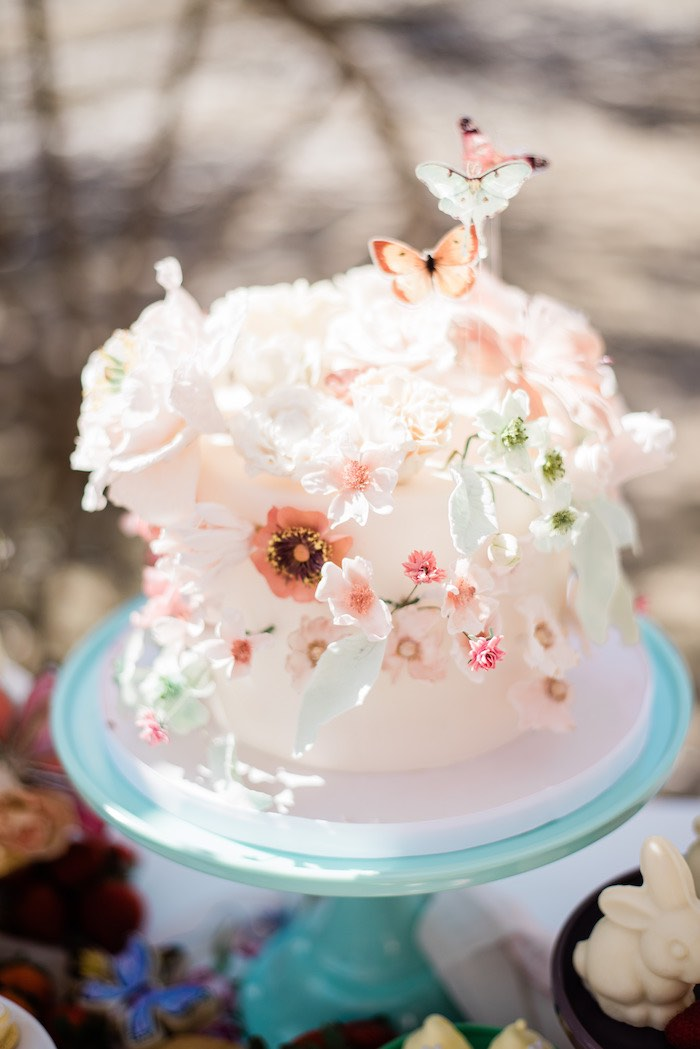 Spring Cake from a Bridgerton Inspired Easter Party on Kara's Party Ideas | KarasPartyIdeas.com (20)