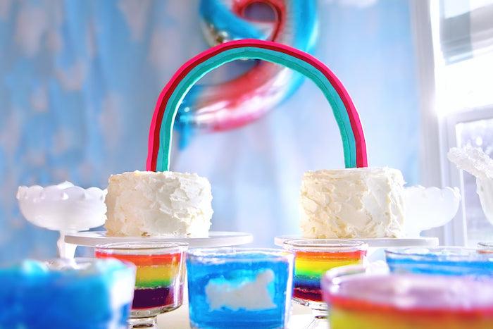 Double Rainbow Cake from a Cloud Nine Sleepover on Kara's Party Ideas | KarasPartyIdeas.com (28)