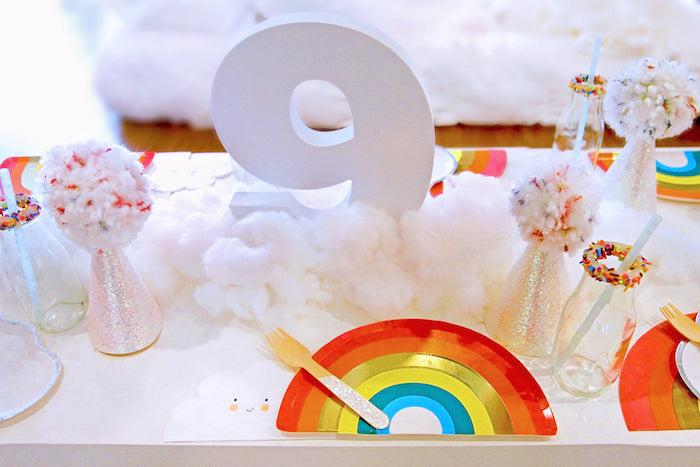 Rainbow Guest Table from a Cloud Nine Sleepover on Kara's Party Ideas | KarasPartyIdeas.com (23)
