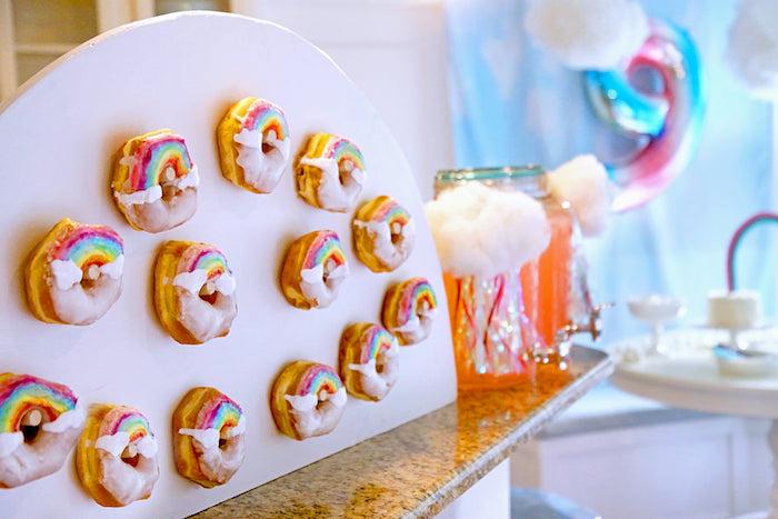Rainbow Donut Board from a Cloud Nine Sleepover on Kara's Party Ideas | KarasPartyIdeas.com (19)