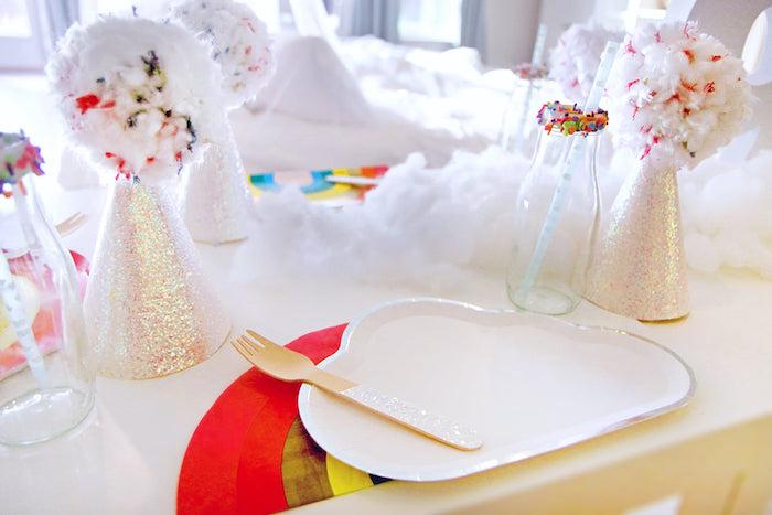 Cloud Table Setting from a Cloud Nine Sleepover on Kara's Party Ideas | KarasPartyIdeas.com (18)