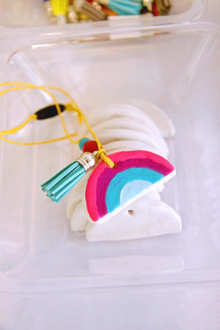 Rainbow Necklace-Crafting Activity from a Cloud Nine Sleepover on Kara's Party Ideas | KarasPartyIdeas.com (36)