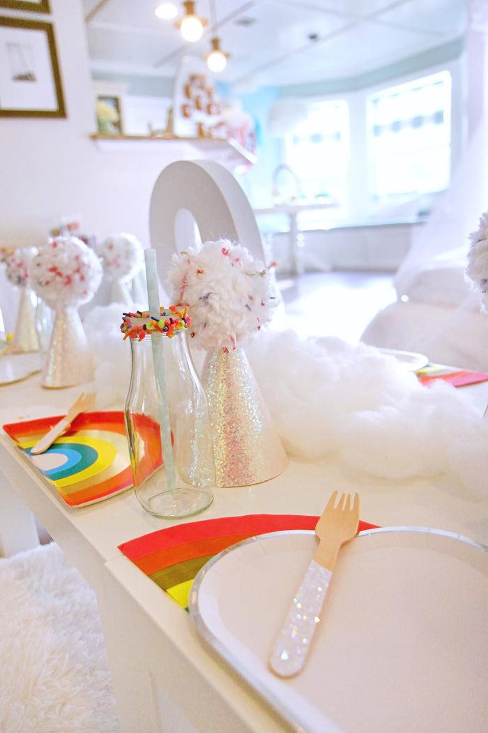 Cloud + Rainbow Table Settings from a Cloud Nine Sleepover on Kara's Party Ideas | KarasPartyIdeas.com (34)