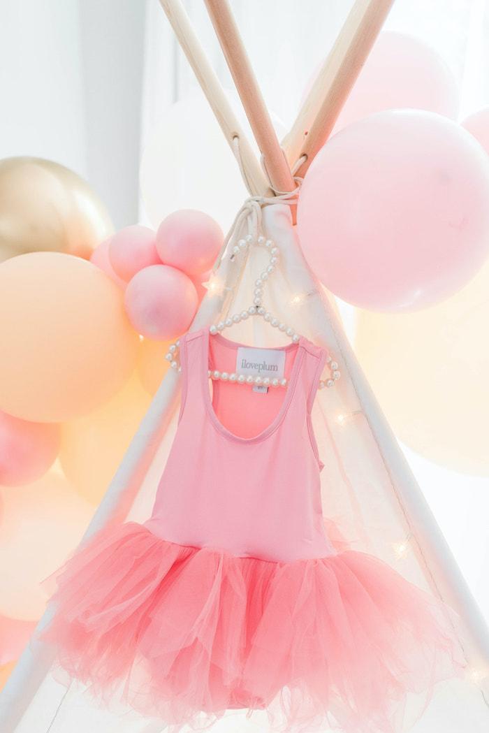 Pink Leotard from a Girly Dinosaur Birthday Party on Kara's Party Ideas | KarasPartyIdeas.com (22)