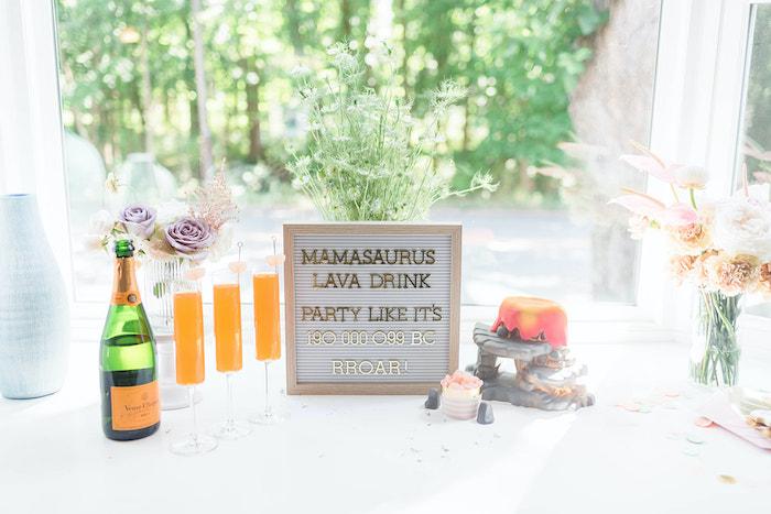 Mamasaurus Lava Drink Bar from a Girly Dinosaur Birthday Party on Kara's Party Ideas | KarasPartyIdeas.com (19)