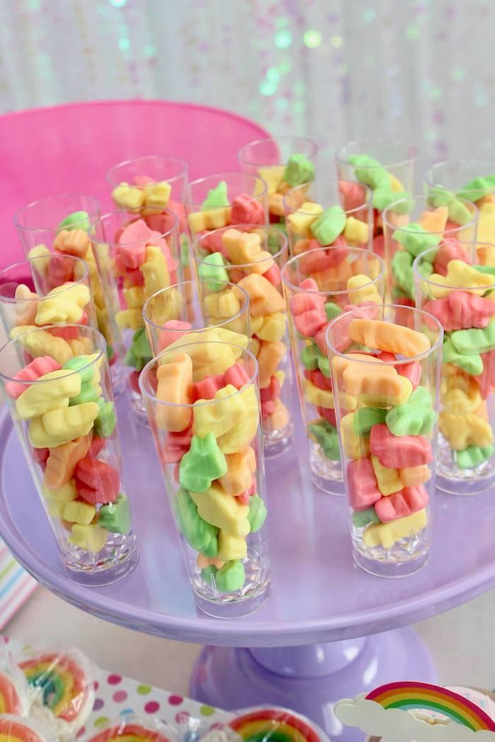 Gummy Candy Shooters from a Glitter & Unicorns Birthday Party on Kara's Party Ideas | KarasPartyIdeas.com (13)