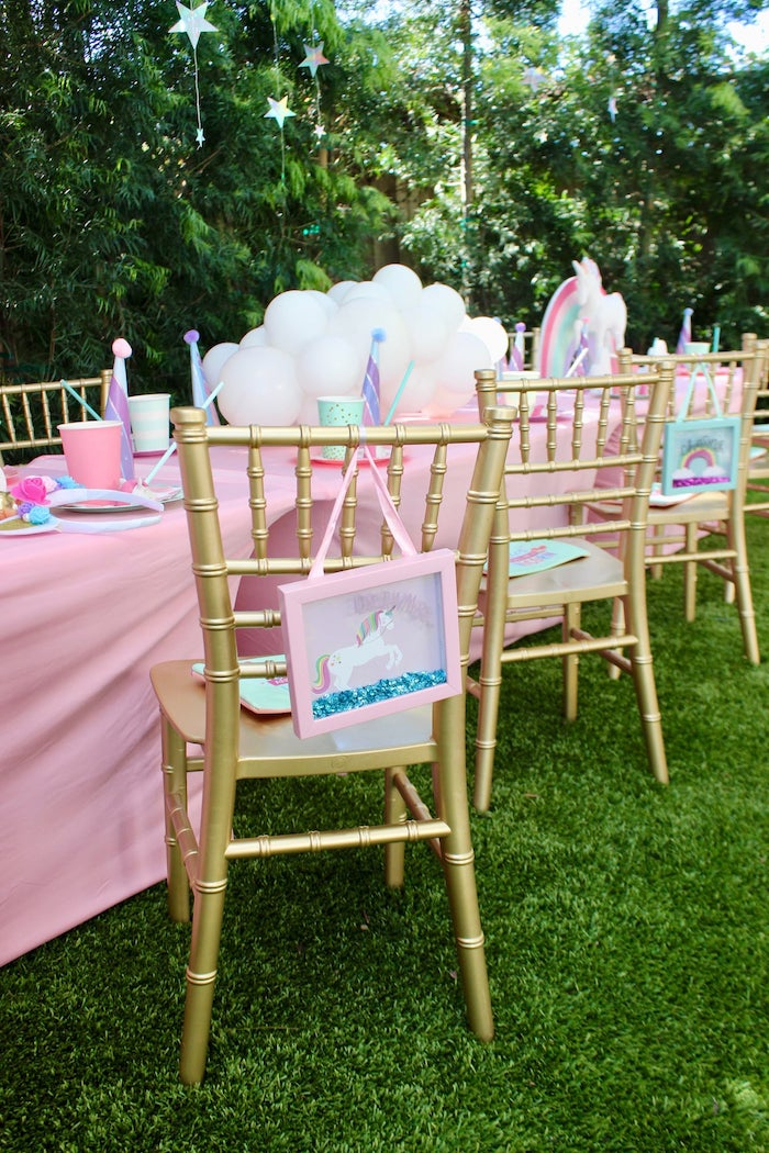 Personalized Unicorn Place Setting from a Glitter & Unicorns Birthday Party on Kara's Party Ideas | KarasPartyIdeas.com (4)