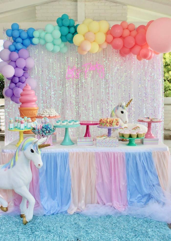 Glitter & Unicorns Birthday Party on Kara's Party Ideas   KarasPartyIdeas.com (2)