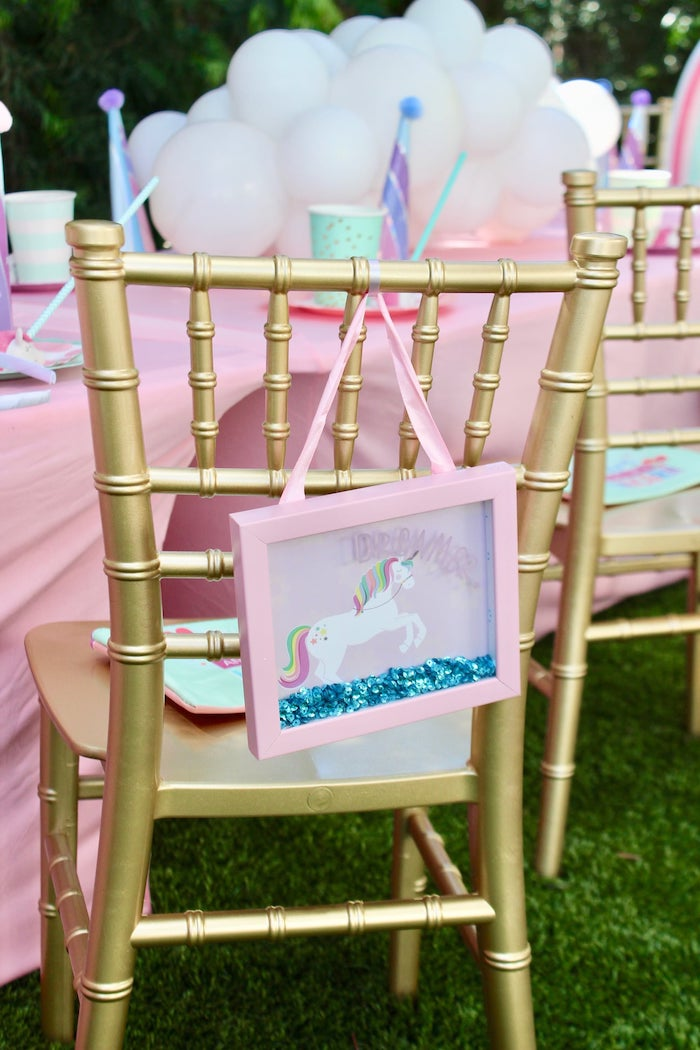 Unicorn Shadow Box Table Setting from a Glitter & Unicorns Birthday Party on Kara's Party Ideas | KarasPartyIdeas.com (23)
