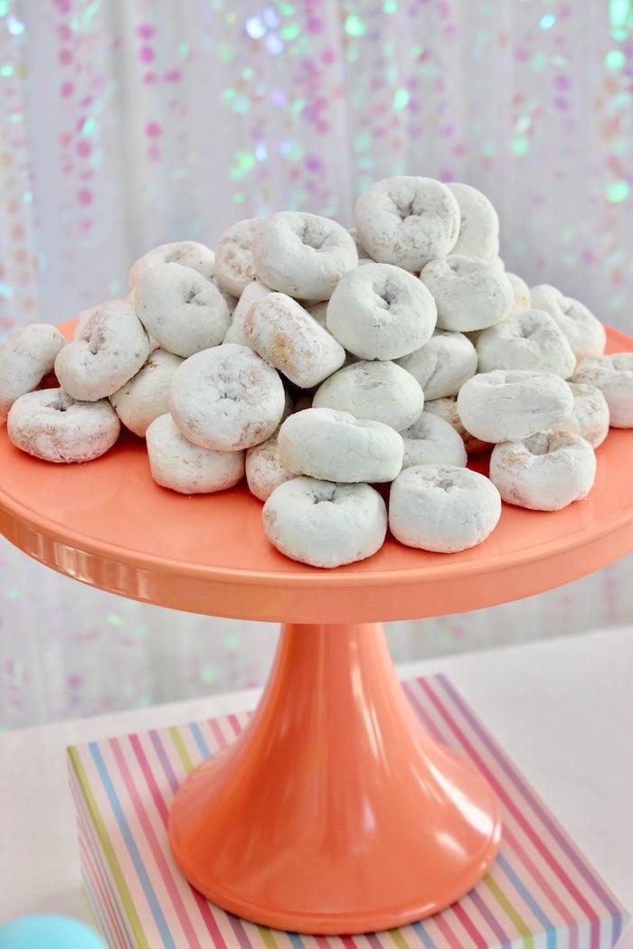 Mini Powdered Donuts from a Glitter & Unicorns Birthday Party on Kara's Party Ideas | KarasPartyIdeas.com (21)