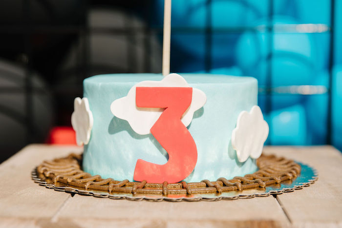 Train-inspired Birthday Cake from a Modern Thomas the Train Birthday Party on Kara's Party Ideas | KarasPartyIdeas.com (21)
