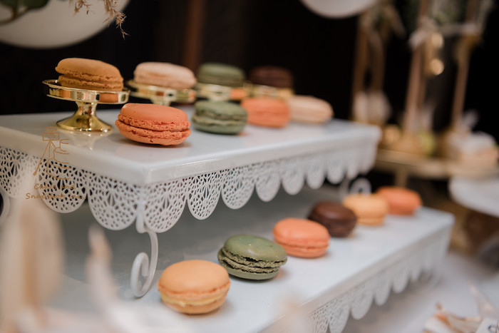 Earth Toned-Macarons from a Neutral Earth Tones Gender Reveal Party on Kara's Party Ideas | KarasPartyIdeas.com (17)