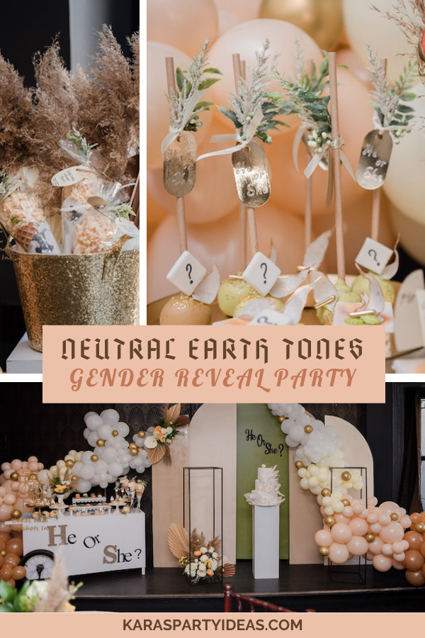Neutral Earth Tones Gender Reveal Party via Kara's Party Ideas - KarasPartyIdeas.com