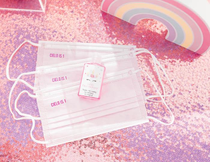 Custom Masks from a Pastel Rainbow Unicorn Party on Kara's Party Ideas | KarasPartyIdeas.com (8)