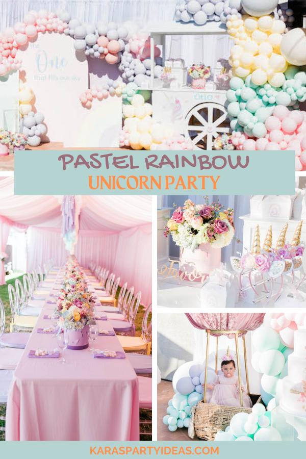 Pastel Rainbow Unicorn Party via Kara's Party Ideas - KarasPartyIdeas.com