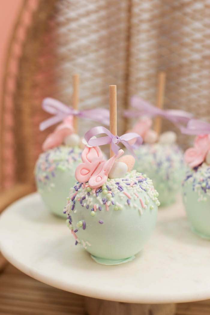 Garden-inspired Candy Apples from a Play Date Flower Garden Party on Kara's Party Ideas | KarasPartyIdeas.com (28)