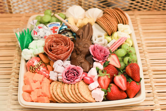 Easter Charcuterie Board from a Play Date Flower Garden Party on Kara's Party Ideas | KarasPartyIdeas.com (24)