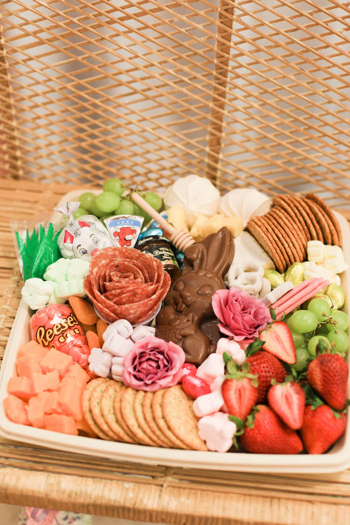 Easter Charcuterie Board from a Play Date Flower Garden Party on Kara's Party Ideas | KarasPartyIdeas.com (23)