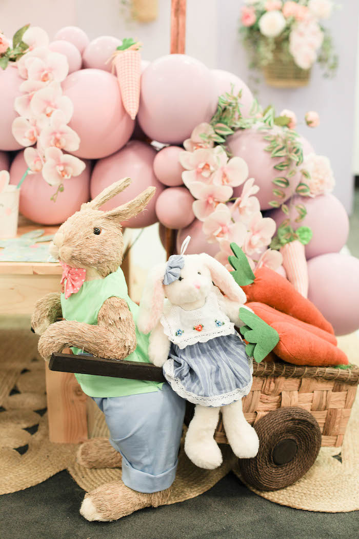 Bunnies from a Play Date Flower Garden Party on Kara's Party Ideas | KarasPartyIdeas.com (20)
