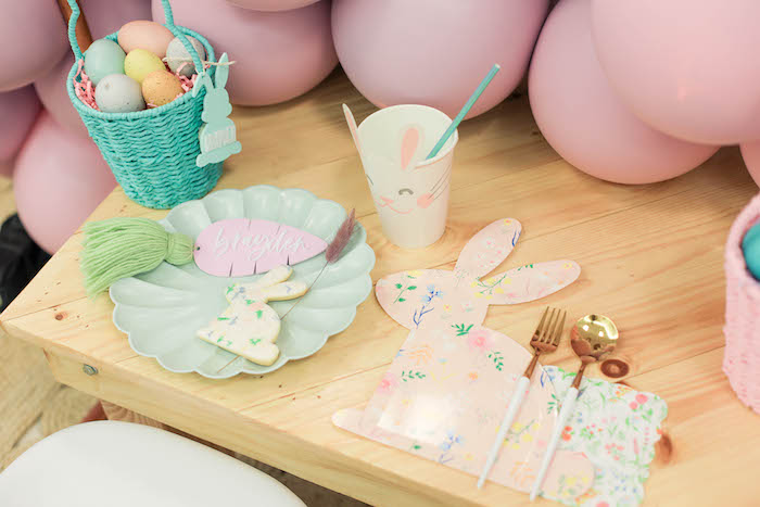 Easter Table Setting from a Play Date Flower Garden Party on Kara's Party Ideas | KarasPartyIdeas.com (30)