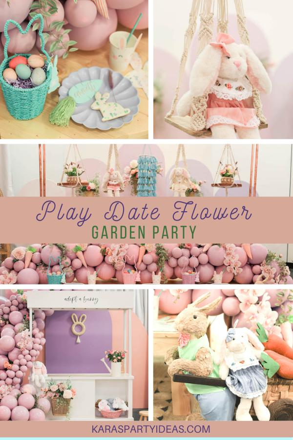 Play Date Flower Garden Party via Kara's Party Ideas - KarasPartyIdeas.com