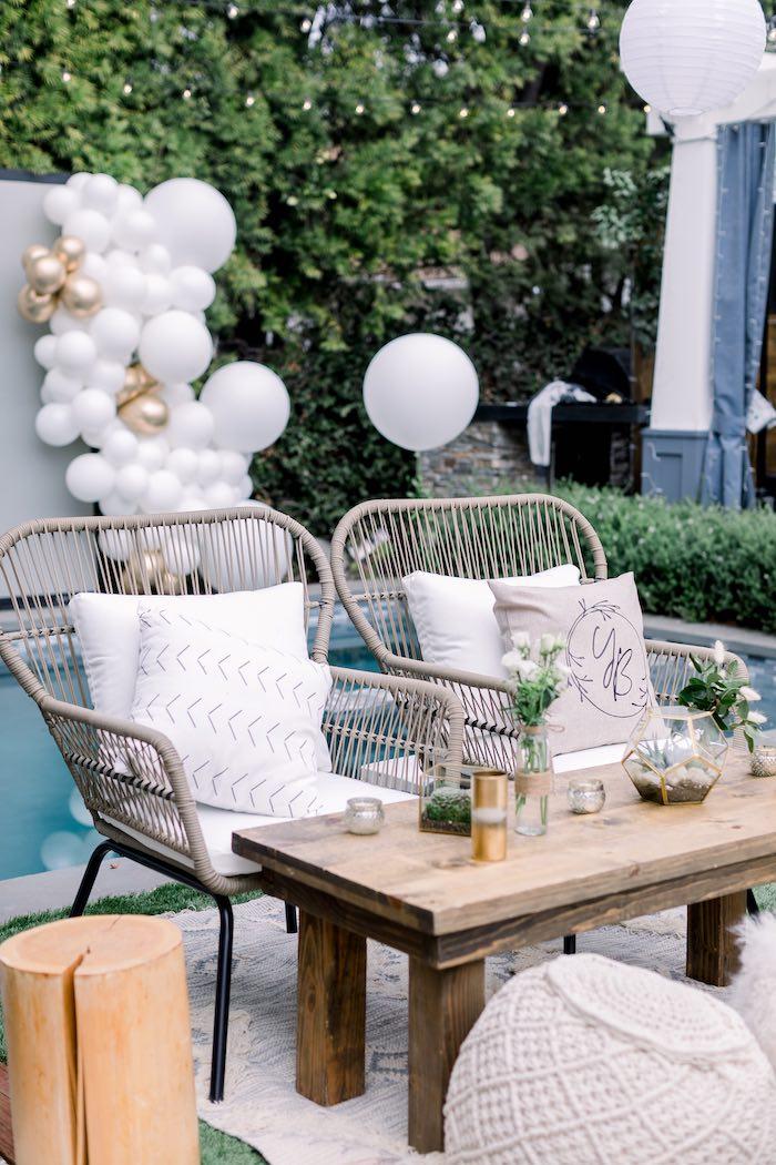 Rustic Boho Lounge from a Rustic Boho Backyard Bat Mitzvah on Kara's Party Ideas | KarasPartyIdeas.com (34)