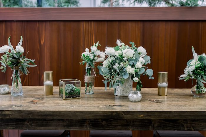Rustic Chic Guest Table from a Rustic Boho Backyard Bat Mitzvah on Kara's Party Ideas | KarasPartyIdeas.com (29)