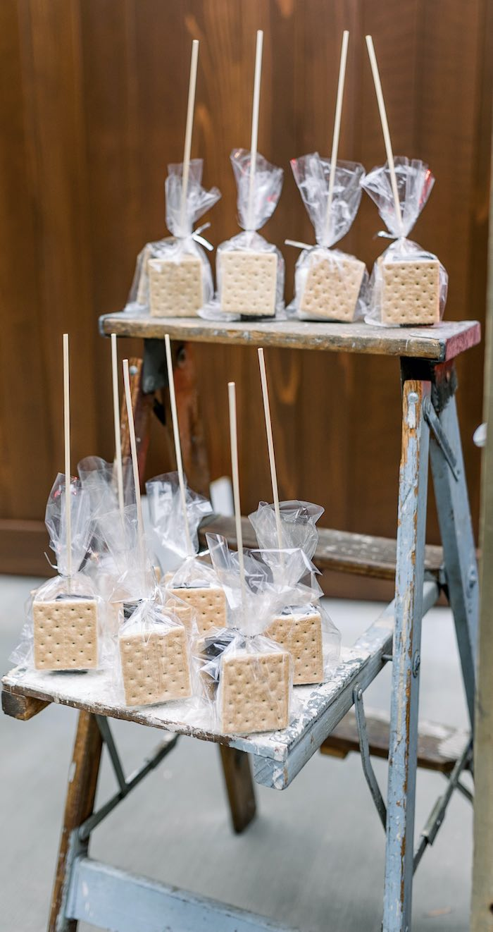 S'more Pack Favors from a Rustic Boho Backyard Bat Mitzvah on Kara's Party Ideas | KarasPartyIdeas.com (17)