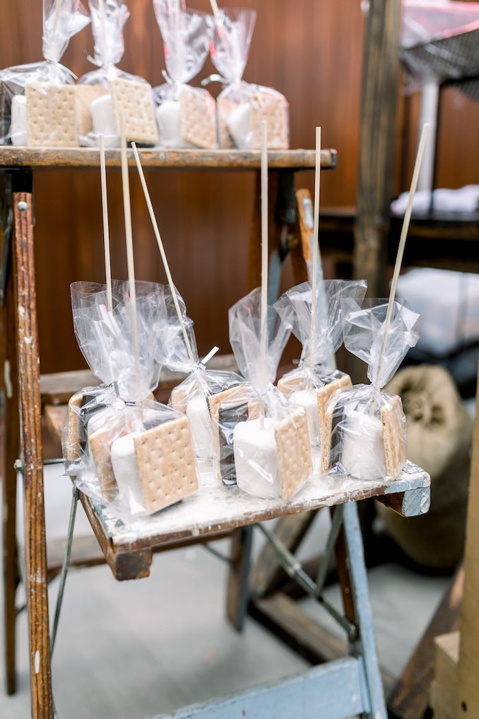 S'more Pack Favors from a Rustic Boho Backyard Bat Mitzvah on Kara's Party Ideas | KarasPartyIdeas.com (16)
