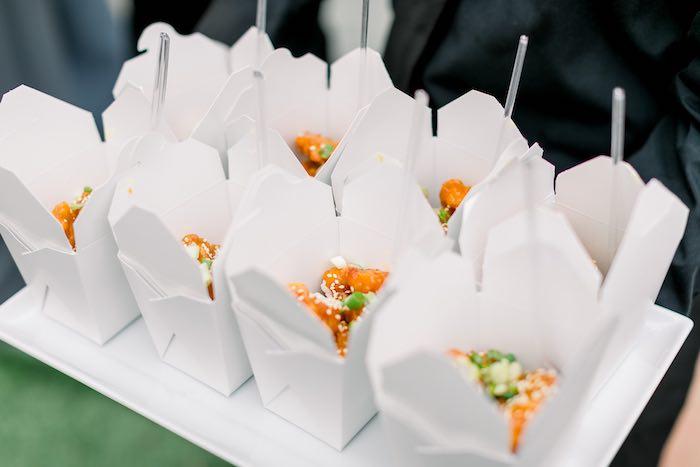 Food Boxes from a Rustic Boho Backyard Bat Mitzvah on Kara's Party Ideas | KarasPartyIdeas.com (10)