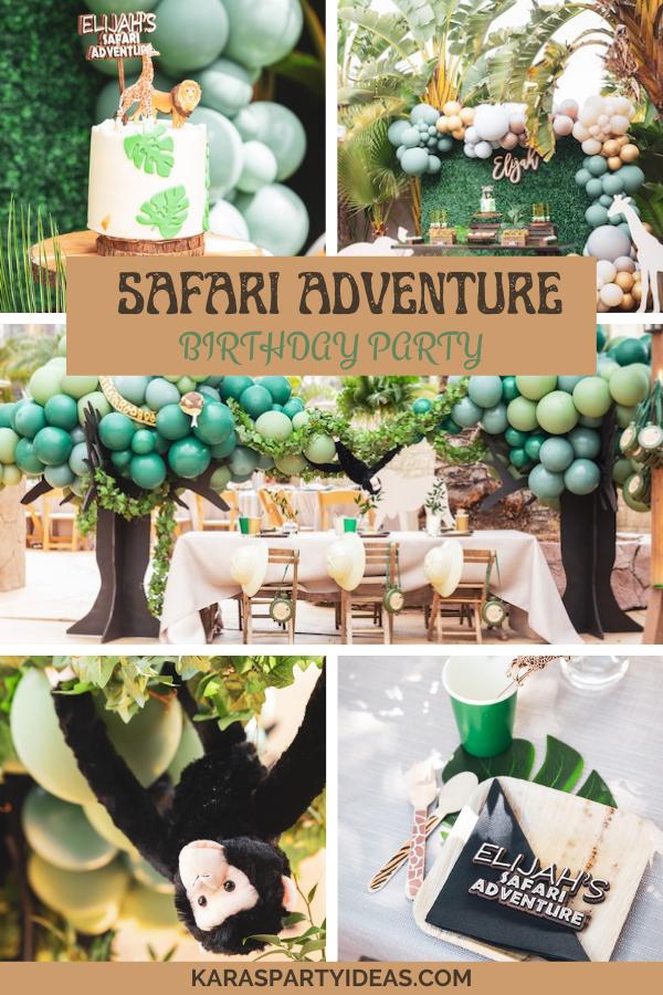 Safari Adventure Birthday Party via Kara's Party Ideas - KarasPartyIdeas.com
