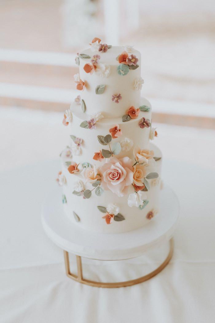 Floral Garden Cake from a Secret Garden Birthday Party on Kara's Party Ideas | KarasPartyIdeas.com (7)