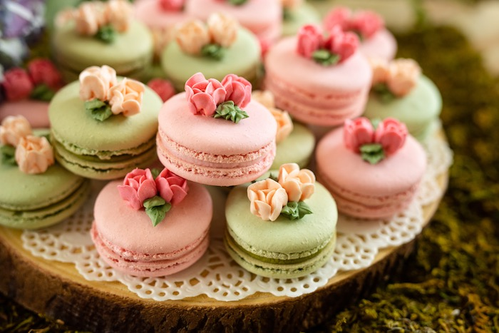 Flower Garden Macarons from a Spring Enchanted Forest Party on Kara's Party Ideas | KarasPartyIdeas.com (17)
