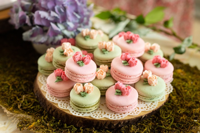 Flower Garden Macarons from a Spring Enchanted Forest Party on Kara's Party Ideas | KarasPartyIdeas.com (12)