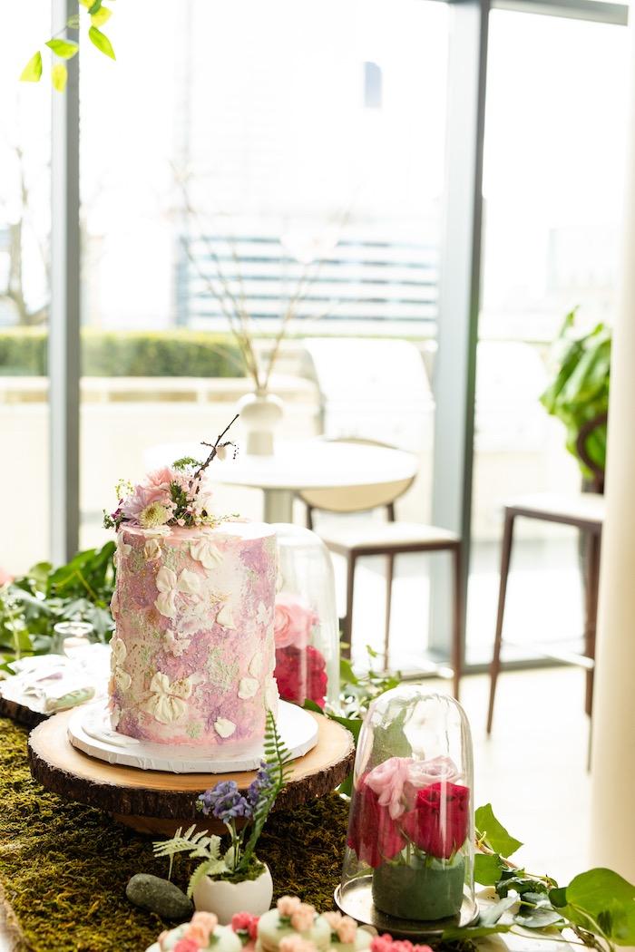 Enchanted Garden Cake + Dessert Table from a Spring Enchanted Forest Party on Kara's Party Ideas | KarasPartyIdeas.com (11)