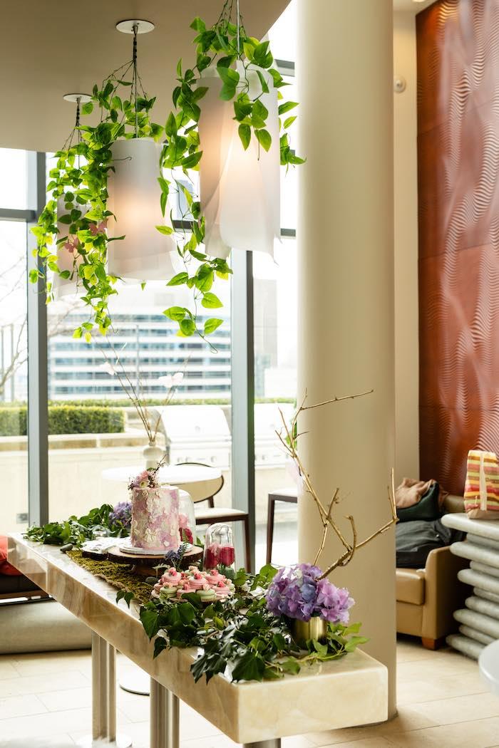 Garden Dessert Table from a Spring Enchanted Forest Party on Kara's Party Ideas | KarasPartyIdeas.com (10)