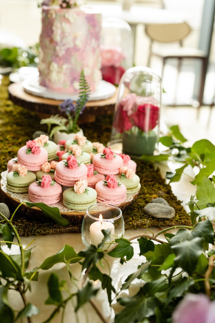 Flower Garden Macarons from a Spring Enchanted Forest Party on Kara's Party Ideas | KarasPartyIdeas.com (7)