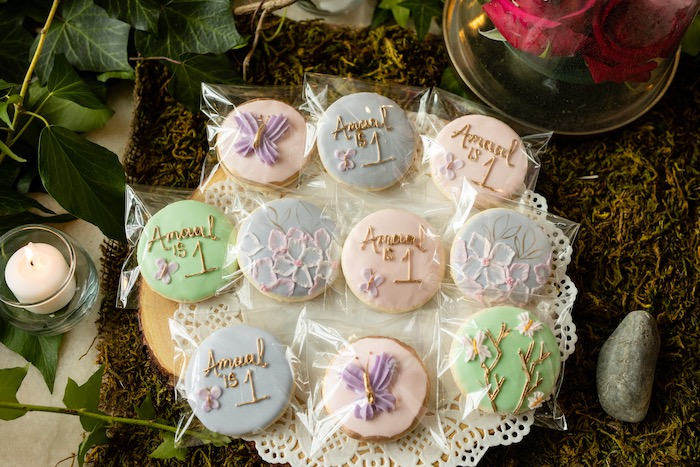 Enchanted Garden Cookies from a Spring Enchanted Forest Party on Kara's Party Ideas | KarasPartyIdeas.com (21)