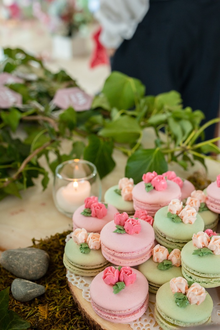 Flower Garden Macarons from a Spring Enchanted Forest Party on Kara's Party Ideas | KarasPartyIdeas.com (19)