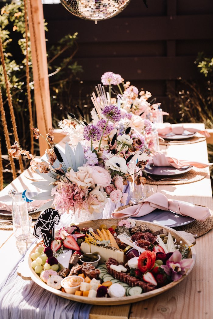"""Boho Guest Table from a Stellar """"Party Like an Aires"""" Party on Kara's Party Ideas 