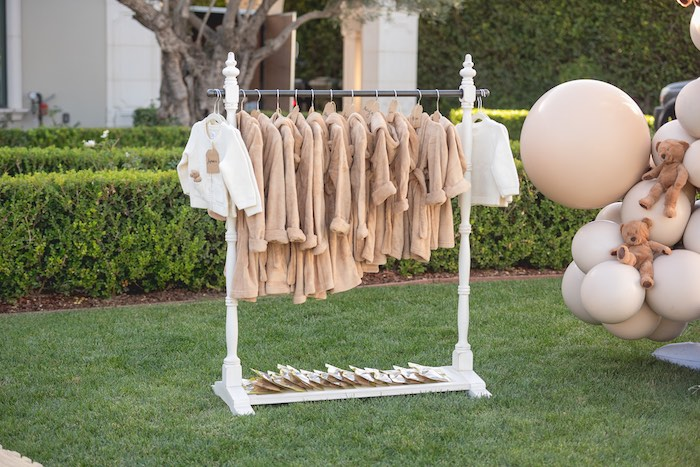 Teddy Bear Robes from a Teddy Bear Birthday Party on Kara's Party Ideas | KarasPartyIdeas.com (24)