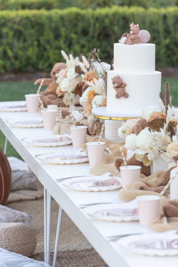 Teddy Bear Tablescape from a Teddy Bear Birthday Party on Kara's Party Ideas | KarasPartyIdeas.com (32)