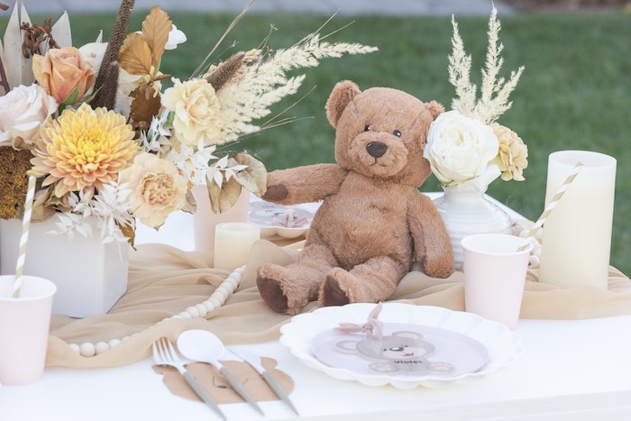Teddy Bear Table from a Teddy Bear Birthday Party on Kara's Party Ideas | KarasPartyIdeas.com (31)
