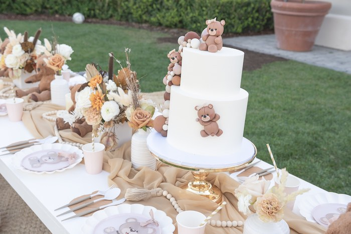 Teddy Bear Guest Table from a Teddy Bear Birthday Party on Kara's Party Ideas | KarasPartyIdeas.com (28)