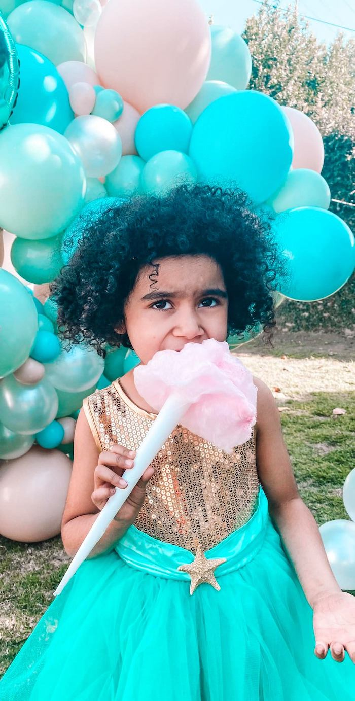 Turquoise and Pink Mermaid Birthday Party on Kara's Party Ideas | KarasPartyIdeas.com (15)