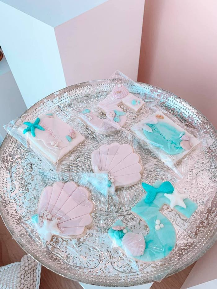 Turquoise and Pink Mermaid Birthday Party on Kara's Party Ideas | KarasPartyIdeas.com (7)