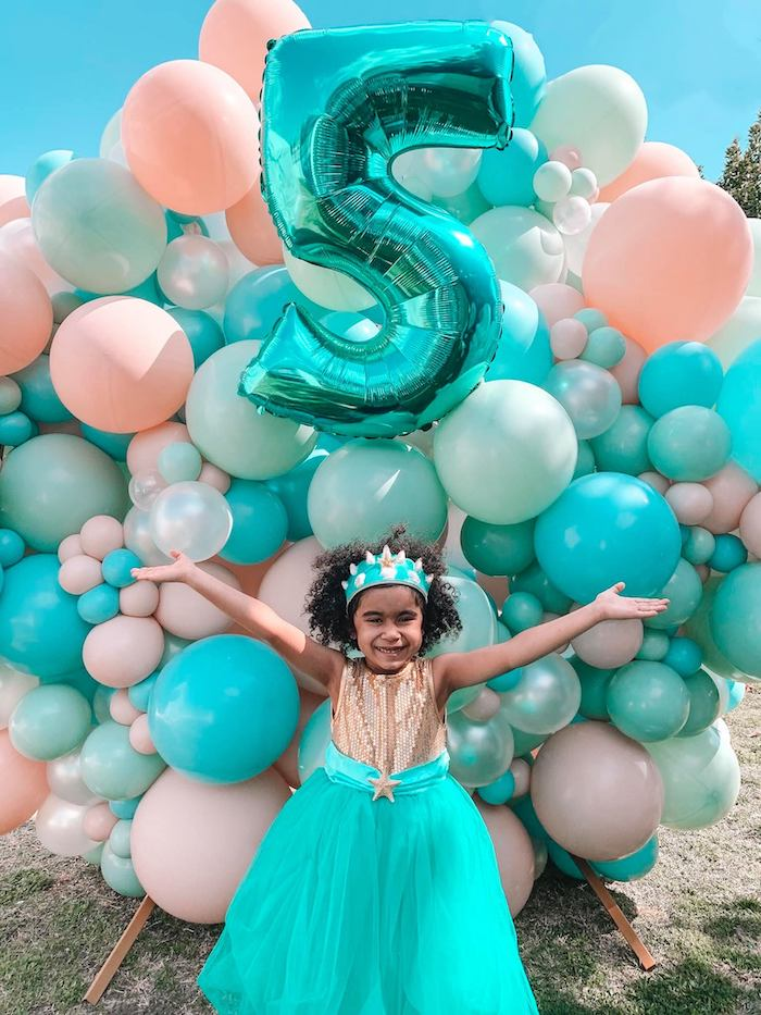 Turquoise and Pink Mermaid Birthday Party on Kara's Party Ideas | KarasPartyIdeas.com (5)
