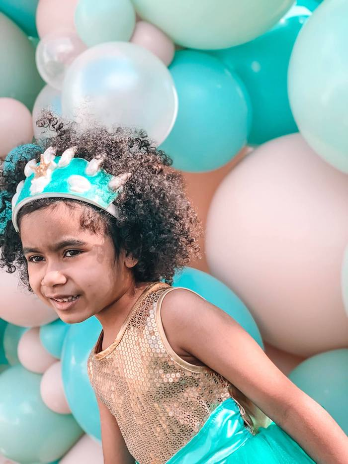 Turquoise and Pink Mermaid Birthday Party on Kara's Party Ideas | KarasPartyIdeas.com (20)