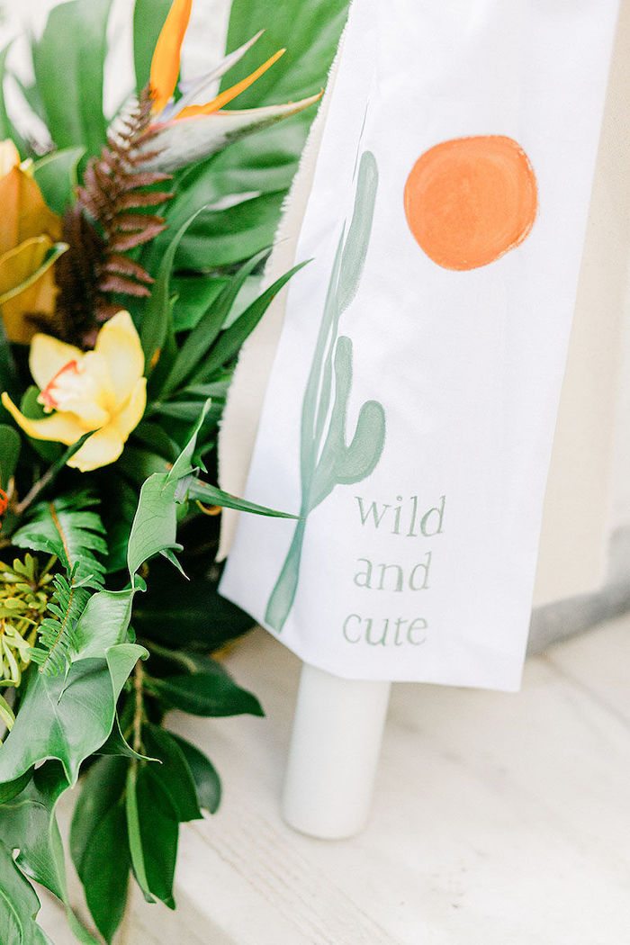 Custom Wild and Cute Safari Party Signage from a Wild Safari Baptism Party on Kara's Party Ideas | KarasPartyIdeas.com (43)