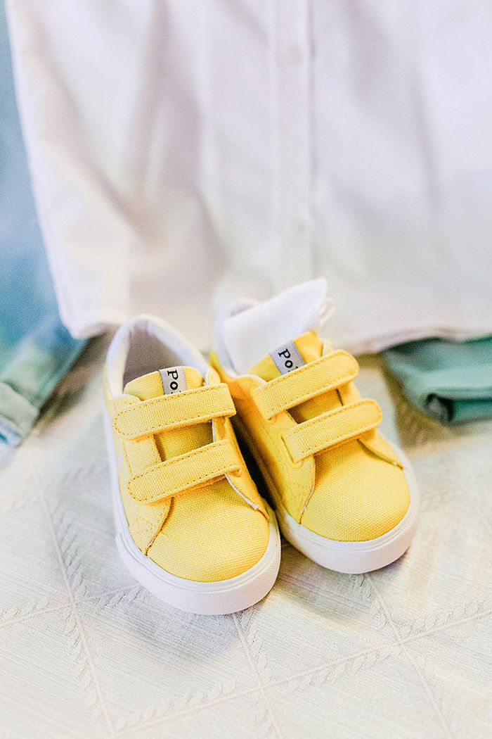 Yellow Shoes from a Wild Safari Baptism Party on Kara's Party Ideas | KarasPartyIdeas.com (21)